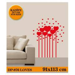 KAD�FE DUVAR STICKER LOVES 91x131 CM