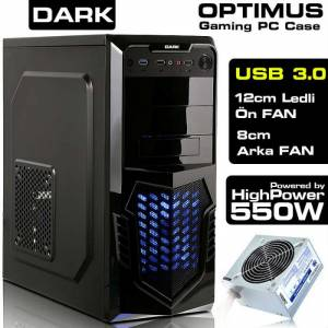 Dark OPTIMUS 500W 12Cm LED FANLI ATX OYUNCU KASA