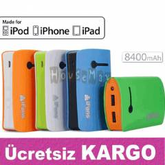 Power Bank Portatif Harici Batarya 8400 mAh