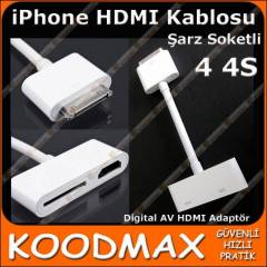 iPhone 4 4S Hdmi Kablosu Digital AV HDMI Adaptör