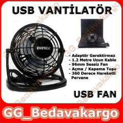 USB FAN K���K MASA�ST� USB VANT�LAT�R FAN
