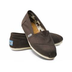TOMS Chocolate Canvas Womens Classics 10000875