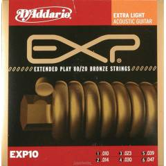 D'addario EXP10 - Extra Light Tak�m Tel