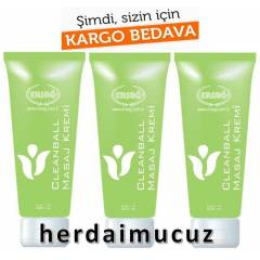 3 Adet Ersa� CleanBall Masaj Kremi 200 ml