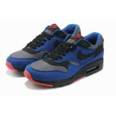 NIKE AIR MAX 1 BLACK BLUE NOIR BLEU GYM SPORT