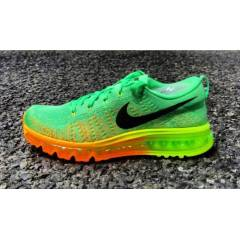NIKE FLYNIT AIR MAX LUCID GREEN ATOMIC MANGO