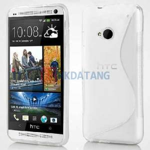 HTC ONE M7 S TPU CASE S-LINE KILIF 3X FILM �FF