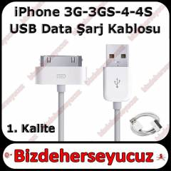 30 Pin 3GS 4G 4S USB �arj Kablo for iPhone 4 4S