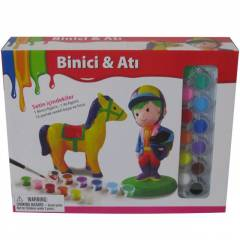 Jockette Set Binici Ve At� Boya Seti