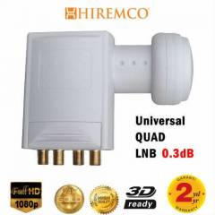 HIREMCO 0.3dB Quad - 4 ��k��l� LNB FULL HD