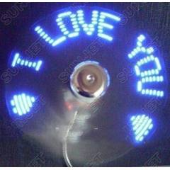 USB Led Fan PERVANE  I LOVE YOU YAZILI SER�NLET�