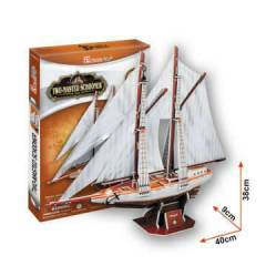 Two-Masted Schooner 3d paz�l yeni