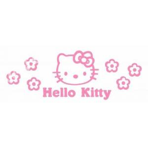 Hello Kitty Yaz� Araba Oto Sticker ( 6,5cm * 8cm