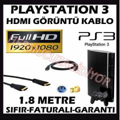 Sony PS3 Playstation 3 HDMI Kablo 1.8m Alt�n U�
