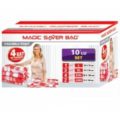 Magic Saver 10lu Vakumlu Saklama Po�et Seti