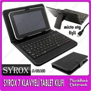 7 '' TABLET PC KLAVYEL� DER� KILIFI VE �ANTA