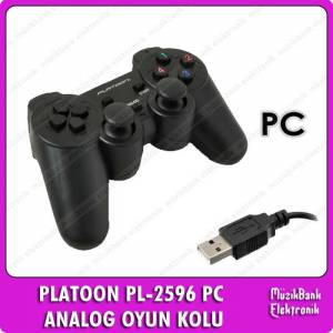 Analog �ift Titre�imli Pc Usb Oyun Kolu Gamepad