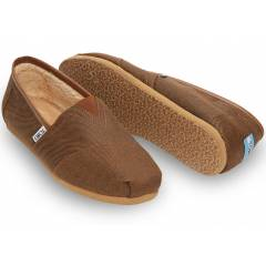 TOMS Erkek Ayakkab�-Rust Brown Aviator Twill