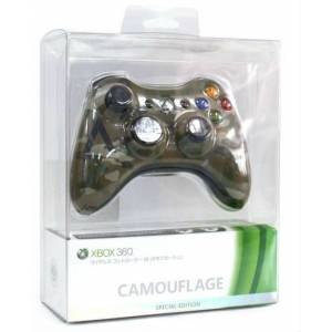 Xbox 360 Camouflage Wireless Controller GamePad