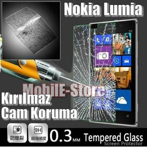Nokia Lumia 630 Tempered Glass Cam Ekran Filmi