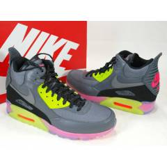 NIKE AIR MAX 90 ICE DARK GREY HYPER PUNCH BOOTS
