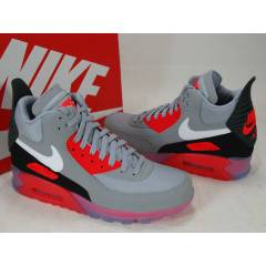 NIKE AIR MAX 90 ICE GREY WHITE INFRARED BOOTS