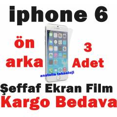 Apple iPhone 6 Ekran Koruma Film Jelatin �n+Arka