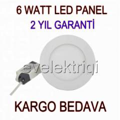 6 WATT LED  PANEL SPOT AYDINLATMA ++ G�NI�I�I