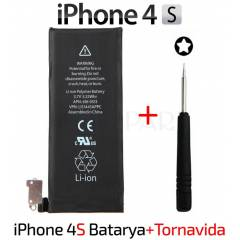 Apple iPhone 4S Batarya Orjinal Pil + Tornavida