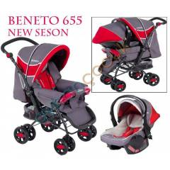 Beneto BT-655 Black Travel Sistem Bebek Arabas�