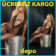 LEG PARTY DANTEL YAKA S�YAH V�CUT �ORABI 89041