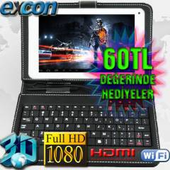 Excon 9 in� �ift �ekirdek Tablet Pc Klavye 8GB