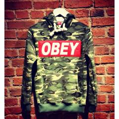 NEW ED�T�ON! HOOD�E OBEY SWEATSH�RT KAMUFLAJ