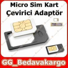 iPhone iPad Mikro Sim Kart Adapt�r� + Sim ��nesi