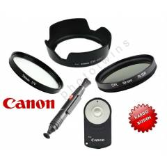 Canon 18-55 ��in Uv + Cpl + ew-60c +rc-6+Lenspen
