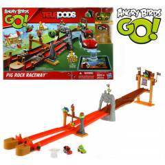 ANGRY B�RDS GO TELEPODS P�G ROCK RACEWAY SET�
