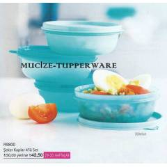 Tupperware �eker Kaplar 4'l� Set