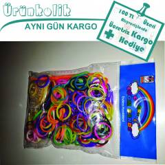 B�LEKL�K YAPMA SET�-COLORFOL LOOM BANDS-300 LSTK