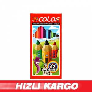 -Colorbank 12 Renk Tam Boy Kuru Boya