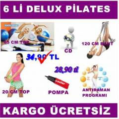 6 LI P�LATES PLATES SET� BANT 65 VE 20 CM TOP CD