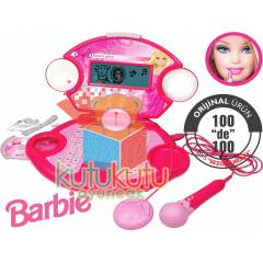 Barbie E�itici Laptop Oyuncak Mikrofonlu Cd li