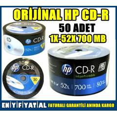 BO� CD-R HP 50 ADET 1X-52X 700 MB OR�J�NAL
