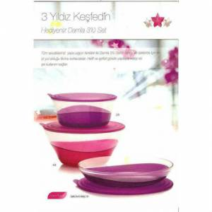 TUPPERWARE DAMLA SET 3 PAR�A