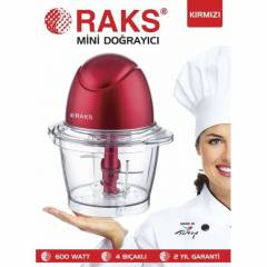 RAKS K�rm�z� Mini Do�ray�c� Rondo 600W 4 B��akl�