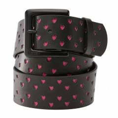 VANS - PERFORATED HEART LEATHER BELT