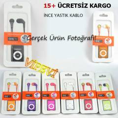 Mini MP3 Player �alar Metal Kasa Yatay Kulakl�k