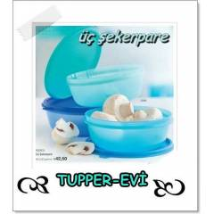 TUPPERWARE �� �EKERPARE 600ml*3adet KARGOSUZZ