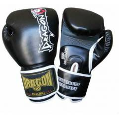 Dragon Attack Boks Kick Boks Eldiveni Black 12OZ