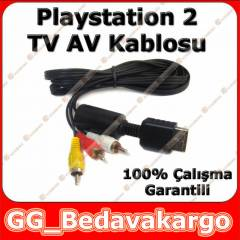 Playstation 2 3 PS2 PS3 TV AV Ba�lant� Kablosu