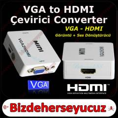 VGA to HDM� ��k�� VGA +AUDIO to HDMI �EV�R�C�